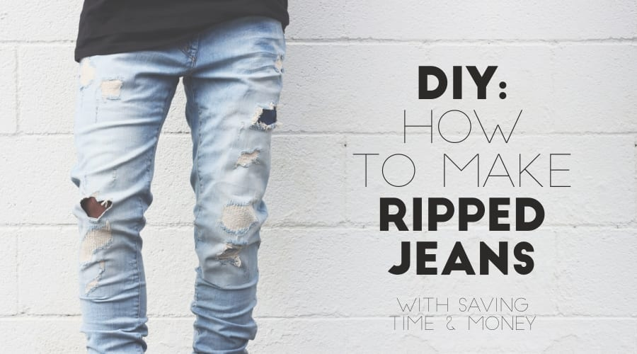 DIY - How To Make Your Ripped Jeans At Home Easily